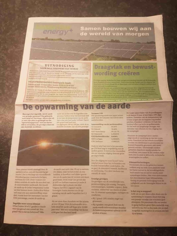 Tekstschrijver-Best-Wilma-Vervoort-Correspondent-Eindhovens-Dagblad-Tomorrow Energy Zonnepark 1